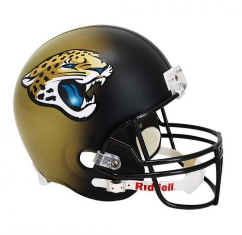 """Jacksonville Jaguars """"2013 - CURRENT"""" NFL Riddell Full Size Deluxe Replica Football Helmet"""