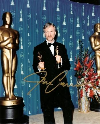 "James Cameron Autographed Oscar 8"" x 10"" Photograph (Unframed)"