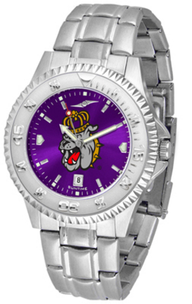 James Madison Dukes Competitor AnoChrome Men's Watch with Steel Band