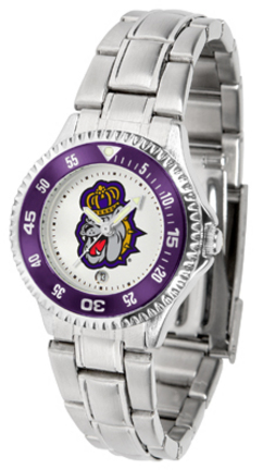 James Madison Dukes Competitor Ladies Watch with Steel Band