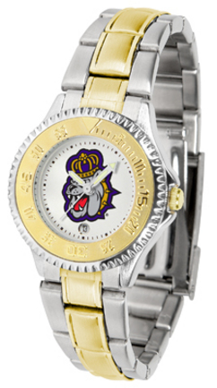 James Madison Dukes Competitor Ladies Watch with Two-Tone Band