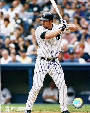 "Jason Giambi ""At Bat"" Autographed New York Yankees 8"" x 10"" Photograph (Unframed)"