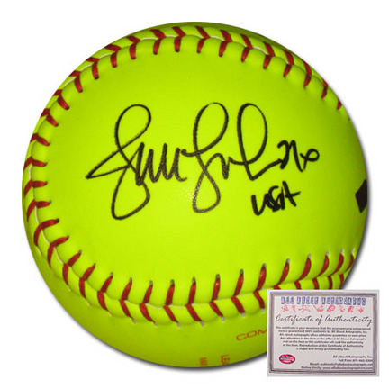 """Jennie Finch Autographed Official Game Softball with """"USA"""" Inscription"""