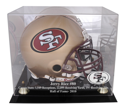 Jerry Rice San Francisco 49ers 2010 Hall of Fame Golden Classic Helmet Case