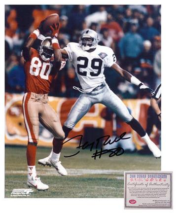"Jerry Rice San Francisco 49ers NFL Autographed ""Catch"" 8"" x 10"" Photograph (Unframed)"