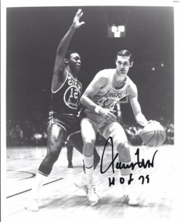 """Jerry West Autographed Los Angeles Lakers 8"""" x 10"""" Photograph Hall of Famer (Unframed)"""