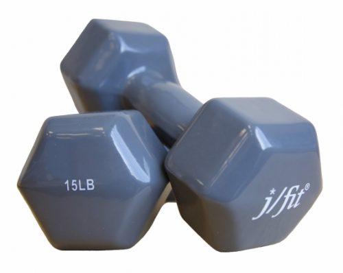 Jfit 20-5502-2 2 lbs. Vinyl Dumbbell Pair