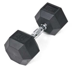 Jfit 20-6550 Rubber Hex Dumbbell- 50 lbs.