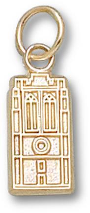 """John Carroll Blue Streaks """"Grasselli Tower"""" 1/2"""" Charm - 14KT Gold Jewelry"""