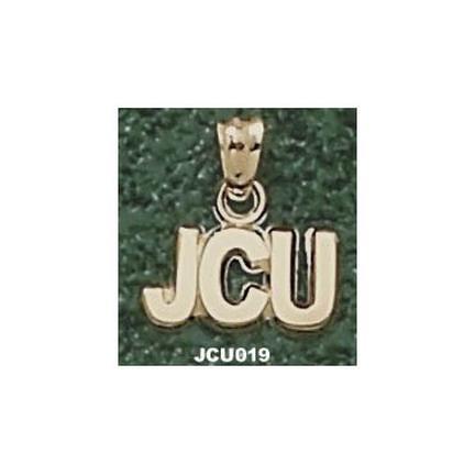 """John Carroll Blue Streaks """"JCU"""" 1/4"""" Pendant - 14KT Gold Jewelry"""