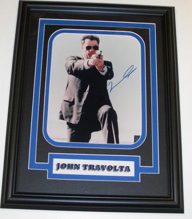 "John Travolta Autographed 8"" x 10"" Custom Framed Photograph"