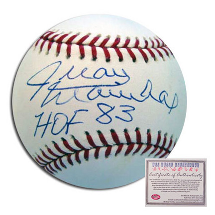 "Juan Marichal San Francisco Giants Autographed Rawlings MLB Baseball with ""HOF 83"" Inscription"