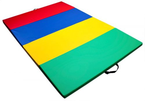 K-Roo Sports SFIT-103 Mixed Rainbow Childrens and Gymnastics 4 ft. x 6 ft. Tumbling Mat