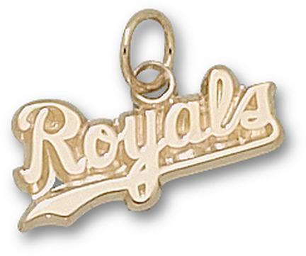 "Kansas City Royals ""Royals"" 5/16"" Charm - 10KT Gold Jewelry"