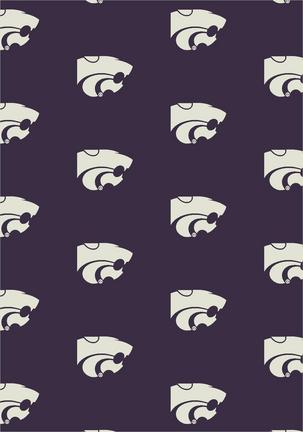 "Kansas State Wildcats 3' 10"" x 5' 4"" Team Repeat Area Rug"