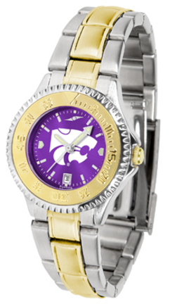 Kansas State Wildcats Competitor AnoChrome Ladies Watch with Two-Tone Band
