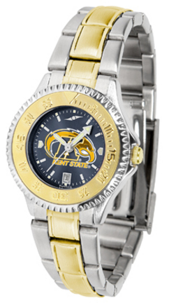 Kent State Golden Flashes Competitor AnoChrome Ladies Watch with Two-Tone Band