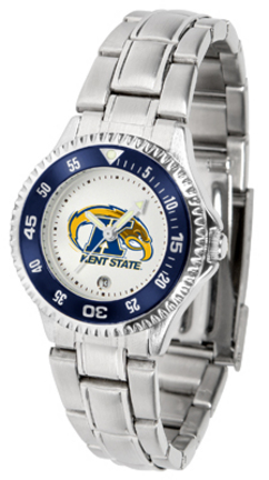 Kent State Golden Flashes Competitor Ladies Watch with Steel Band
