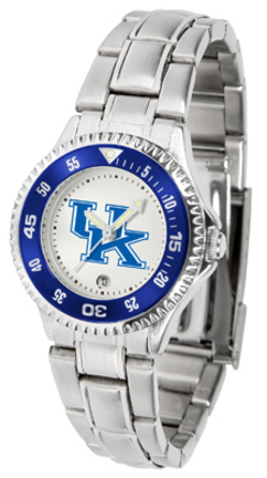 Kentucky Wildcats Competitor Ladies Watch with Steel Band