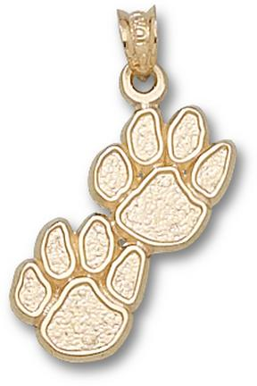 """Kentucky Wildcats Double """"Paws"""" Pendant - 10KT Gold Jewelry"""