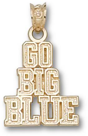 "Kentucky Wildcats ""Go Big Blue"" Pendant - 10KT Gold Jewelry"