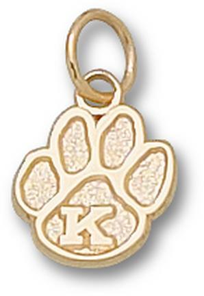 """Kentucky Wildcats """"K Paw"""" 3/8"""" Charm - 14KT Gold Jewelry"""