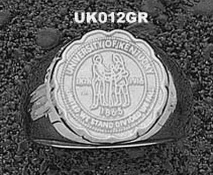 """Kentucky Wildcats """"Seal"""" Men's Ring Size 10 3/4 - Sterling Silver Jewelry"""