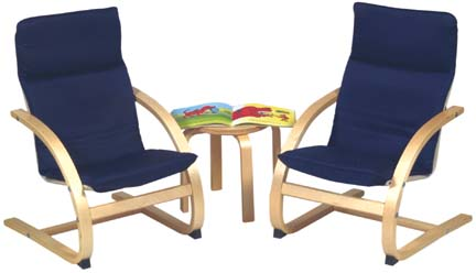 Kiddie Rocker Table and Chairs Set (Blue)