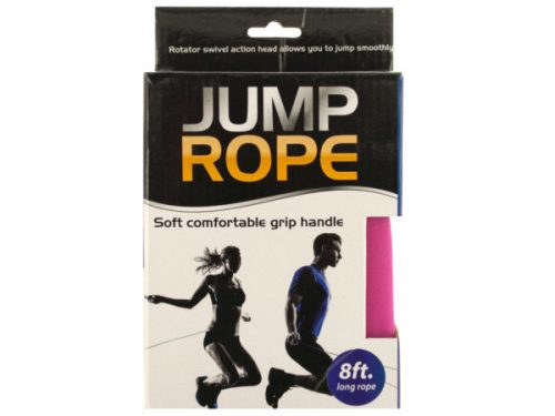 Kole Imports HH318-12 8 ft. Blue & Pink Soft Grip Jump Rope - Pack of 12