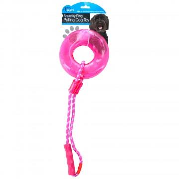 Kole Imports OS298-6 Squeaky Ring Pulling Dog Toy 6 Piece