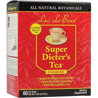 Laci Le Beau 0260927 Super Dieters Tea All Natural Botanicals - 60 Tea Bags