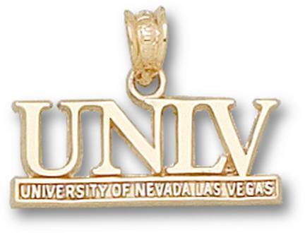"Las Vegas (UNLV) Runnin' Rebels ""UNLV"" Pendant - 14KT Gold Jewelry"
