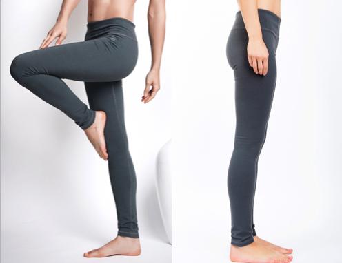 LeaLee Apparel LJVG101 Womens Jade Vine Legging Grey - Extra Small