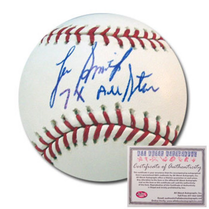 """Lee Smith Autographed Rawlings MLB Baseball with """"7x All Star"""" Inscription"""