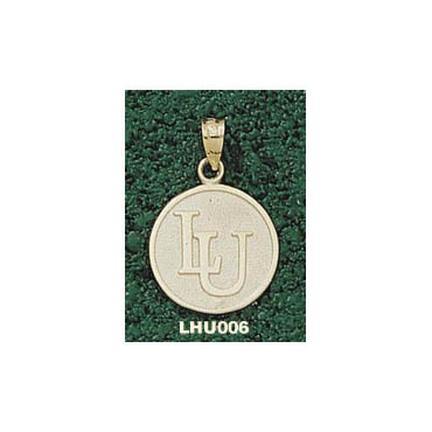 "Lehigh Mountain Hawks Interlock ""LU"" 5/8"" Disk Pendant - 10KT Gold Jewelry"