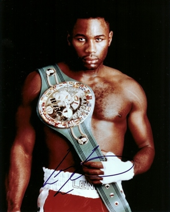 "Lennox Lewis Autographed Boxing 8"" x 10"" Photograph (Unframed)"