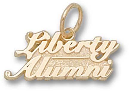 "Liberty Flames ""Liberty Alumni"" Charm - 10KT Gold Jewelry"