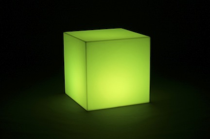 """Lighted Cube / Furniture (24"""" x 24"""" x 24"""" - No Bulb) from Pool Shot"""