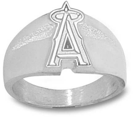 """Los Angeles Angels of Anaheim """"A"""" 5/8"""" Men's Ring - Sterling Silver Jewelry (Size 10 1/2)"""