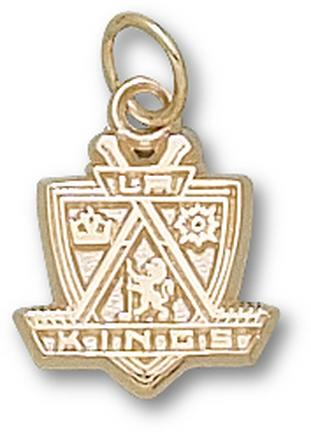 "Los Angeles Kings ""Kings Logo"" 1/2"" Charm - 10KT Gold Jewelry"