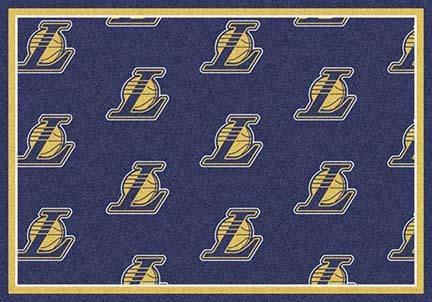 "Los Angeles Lakers 2' 1"" x 7' 8"" Team Repeat Area Rug Runner"