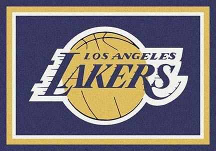 """Los Angeles Lakers 3' 10"""" x 5' 4"""" Team Spirit Area Rug"""