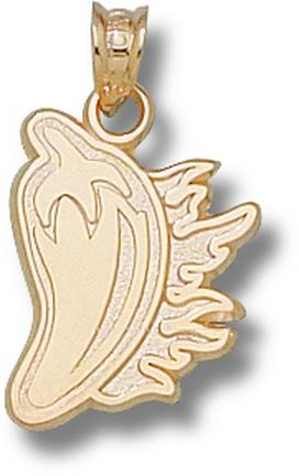 "Louisiana (Lafayette) Ragin' Cajuns ""Cayenne Pepper"" Pendant - 10KT Gold Jewelry"