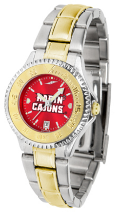 Louisiana (Lafayette) Ragin' Cajuns Competitor AnoChrome Ladies Watch with Two-Tone Band