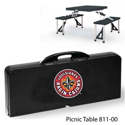 Louisiana (Lafayette) Ragin' Cajuns Portable Folding Table and Seats