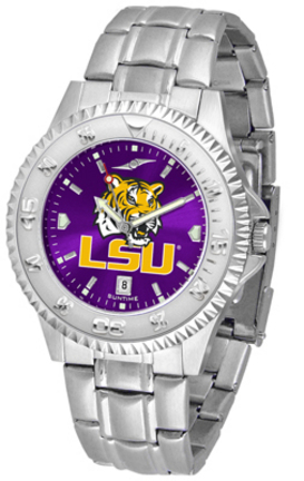 Louisiana State (LSU) Tigers Competitor AnoChrome Men's Watch with Steel Band