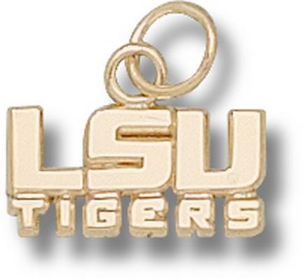 """Louisiana State (LSU) Tigers New """"LSU Tigers"""" 1/4"""" Lapel Pin - 14KT Gold Jewelry"""