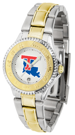 Louisiana Tech Bulldogs Competitor Ladies Watch with Two-Tone Band