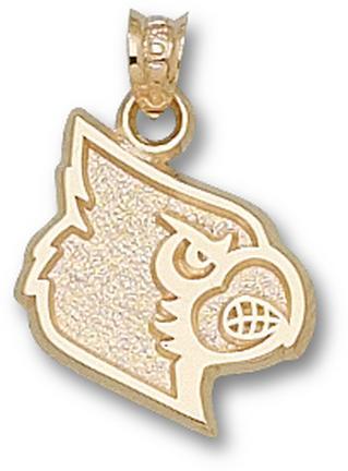 "Louisville Cardinals 5/8"" Athletic ""Cardinal Head"" Pendant - 10KT Gold Jewelry"