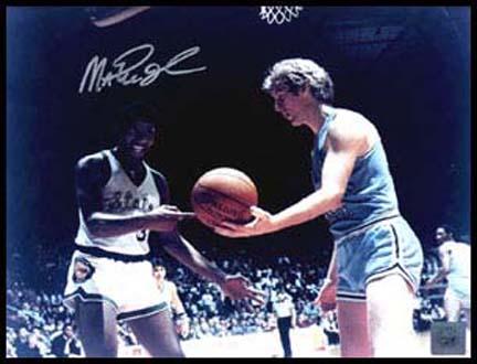 "Magic Johnson Autographed ""NCAA with Bird"" 8"" x 10"" Color Photograph (Unframed)"